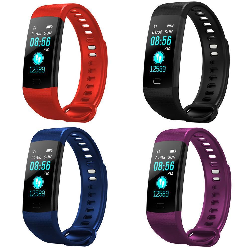 Tolasi Mulheres Homens Smart pulso Bluetooth Frequência de Coração Bluetooth Pressão arterial Pedômetro Relógio LED Sport Pulseira relógio para Android iOS J1205