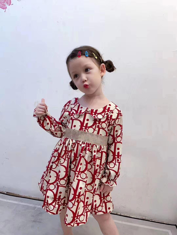 2020 جديد الأطفال الصيف فتاة مطبوعة خمر فساتين الأزهار الاطفال الأميرة زهرة اللباس الأطفال ملابس البيع بالتجزئة