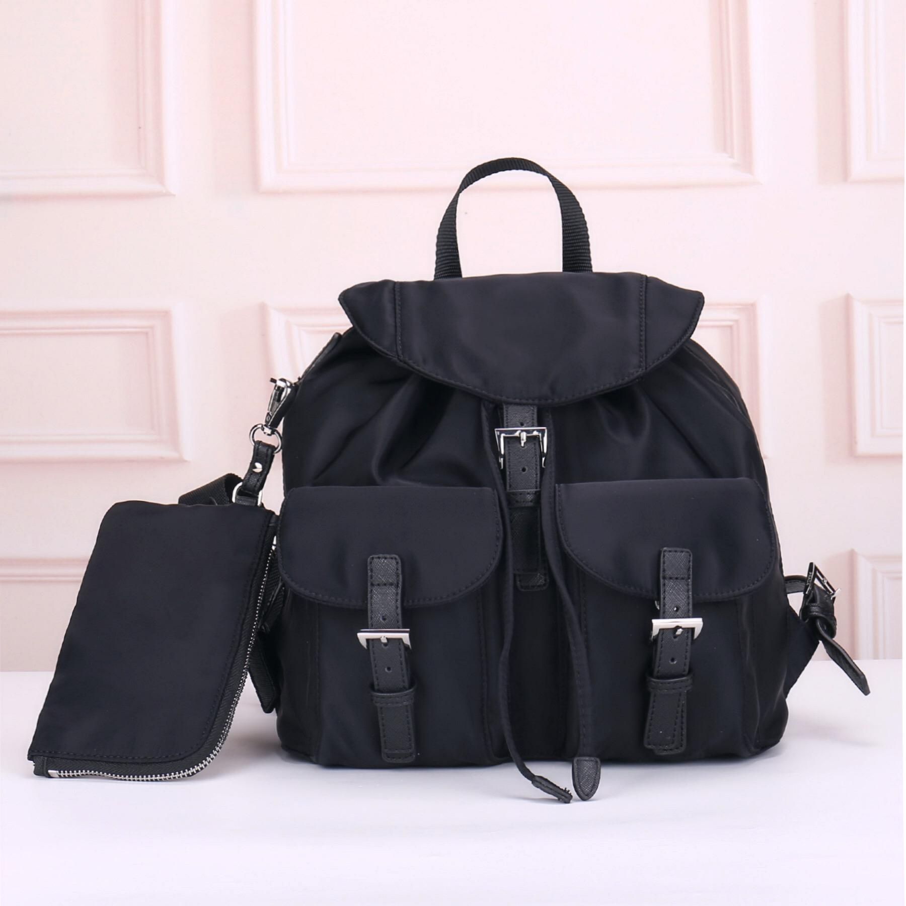 Großhandel Mode Rucksack für Frauen Mode Zurück Packung Für Männer Leinwand Umhängetasche Handtasche Klassische Rucksack Messenger Bag Fallschirm Stoff
