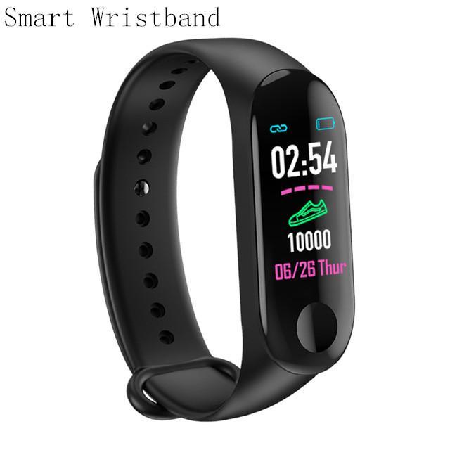 M3 Smart Armband Bluetooth Sport Fitness Tracker Smart Armbanduhr Blutdruck Herzfrequenz Monitor Pedometeruhr für Android iPhone ios