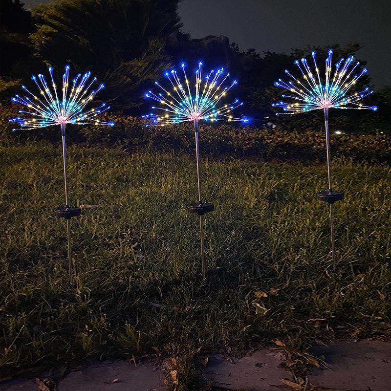 سلاسل الإضاءة الهندباء سلسلة الطاقة الشمسية سلسلة الأضواء الأرضيات الألعاب النارية ماء فناء جديد تزيين مصباح سلسلة 22QK3 K2