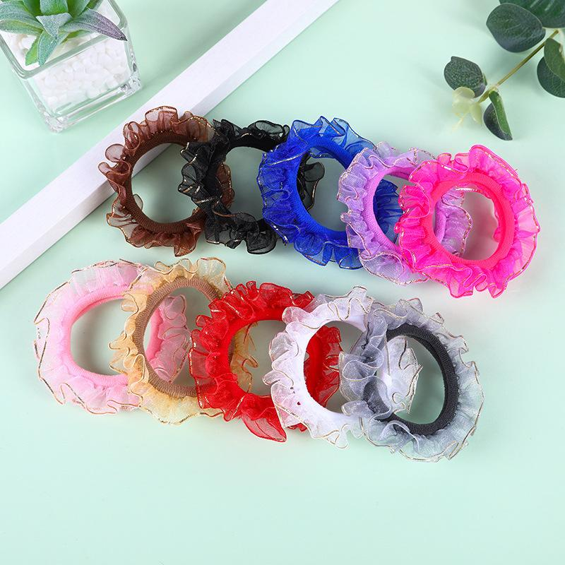 Neue Ankunft Mode Lumpen Zubehör Spitze Bands Mädchen Schöne Gummi Korea Stil Haar Seil Nette Stirnband