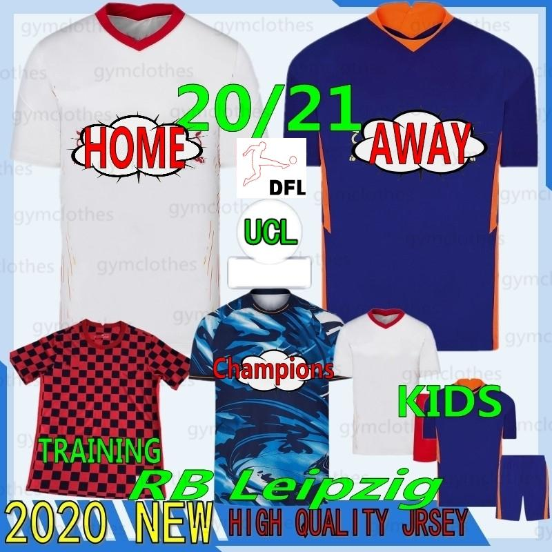 Tailandês 20/21 Werner RB Nova Jerseys Sabitzer Forsberg Halstenberg Sabitzer Top Quality Homem Kits Kits Camisa de Futebol