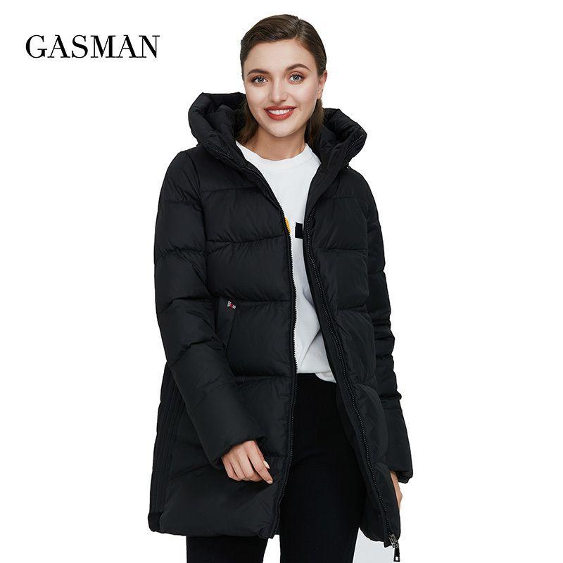 GASMAN New plus size black women's winter jacket Coat women warm hooded down parka outwear Female fashion puffer jacket 011 201211
