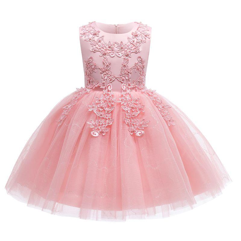 Nuevo 2021 Flowerchildren Fashion Transpirable Lace Malla de encaje Entrega gratuita para fiestas de vestir infantil