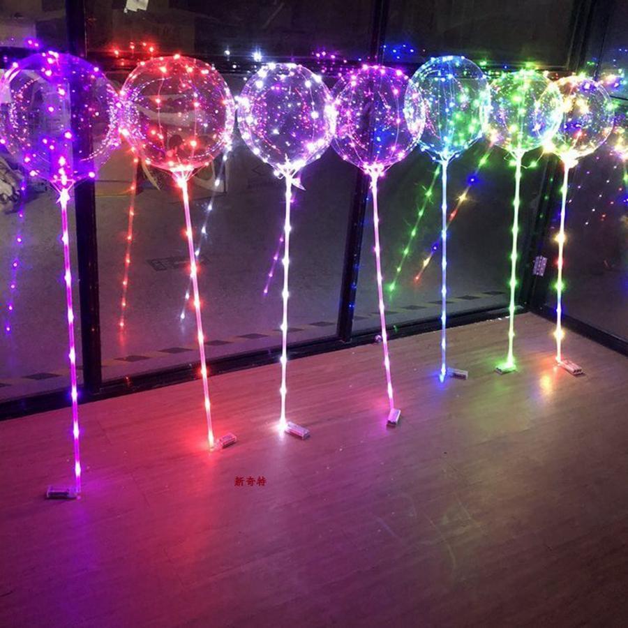 Balões transparentes de bolha bobo LED luzes de casamento decoração de festa de aniversário decoração de casa 3m luz ljjk2511