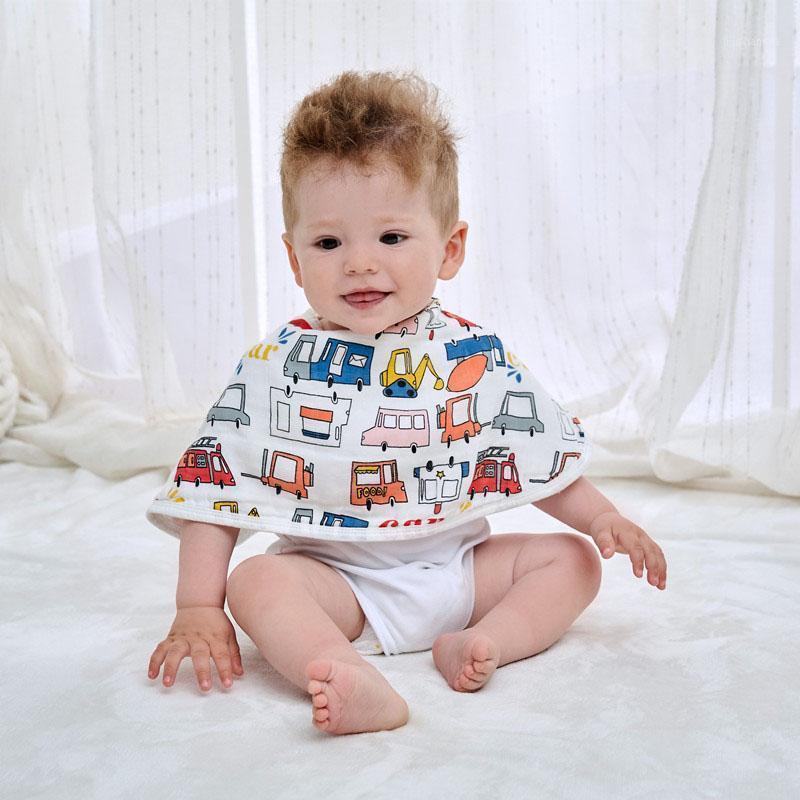 3 unids / lote Regurgitan la toalla de leche para 0-5 años de bebé Six Capas Baby Gauze Babero Hombro Mamá Hombro Escupir Leche Pad para Kid1