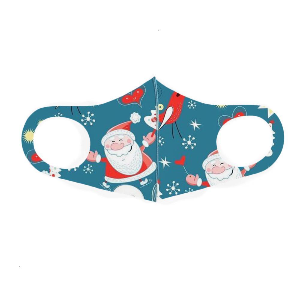 Elk Claus Envío Santa Navidad Moda transpirable DHL PRUEBA A prueba de polvo Máscara de algodón para niños Mascarillas de Navidad EWF172