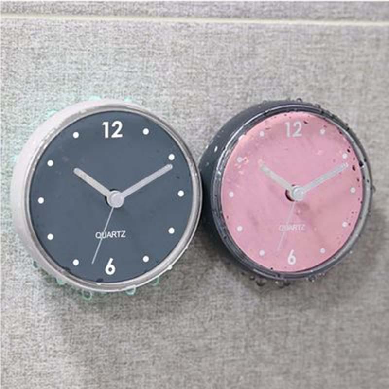 Orologio da parete di aspirazione impermeabile orologio da bagno orologio orologio Home Bagno Accessori da cucina Accessori per la casa Autoadesivo Decorsione 72 * 40mm