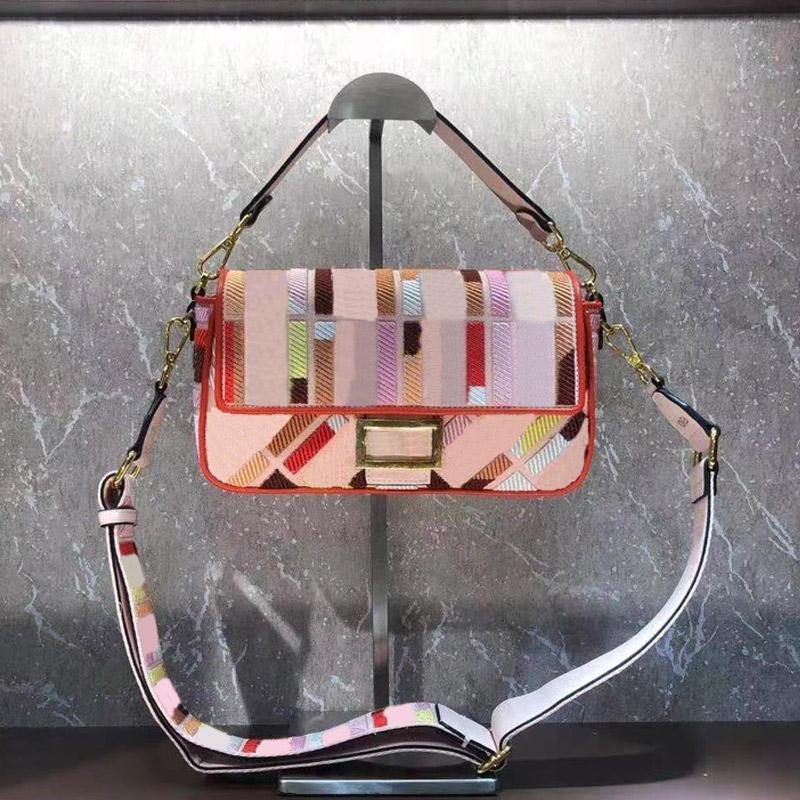 메신저 가방 여성 어깨 가방 지갑 고품질 캔버스 소재 자수 패턴 버클 조정 가능한 탈착식 어깨 끈