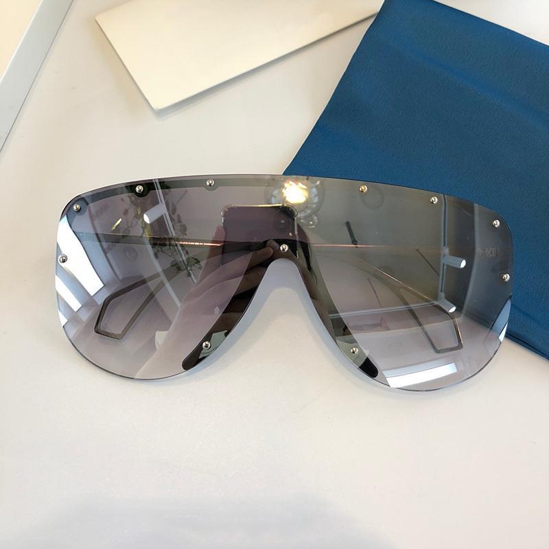 0667 New Style-Sonnenbrillen mit der Linse mit dem großen halben Rahmen mit kleiner Niet-Sonnenbrille beliebte Schutzbrillen Top-Qualität mit Schutzabdeckung