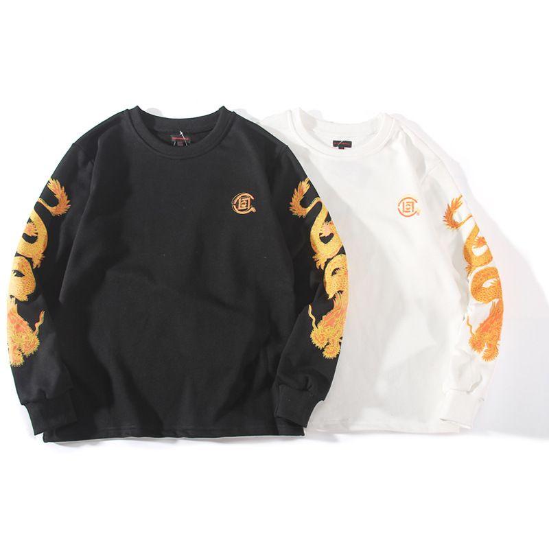 Stile della camicia della moda nazionale della gioventù chen Guanxi Clt Dragon ricamo uomini e donne coppia maglione colletto rotondo
