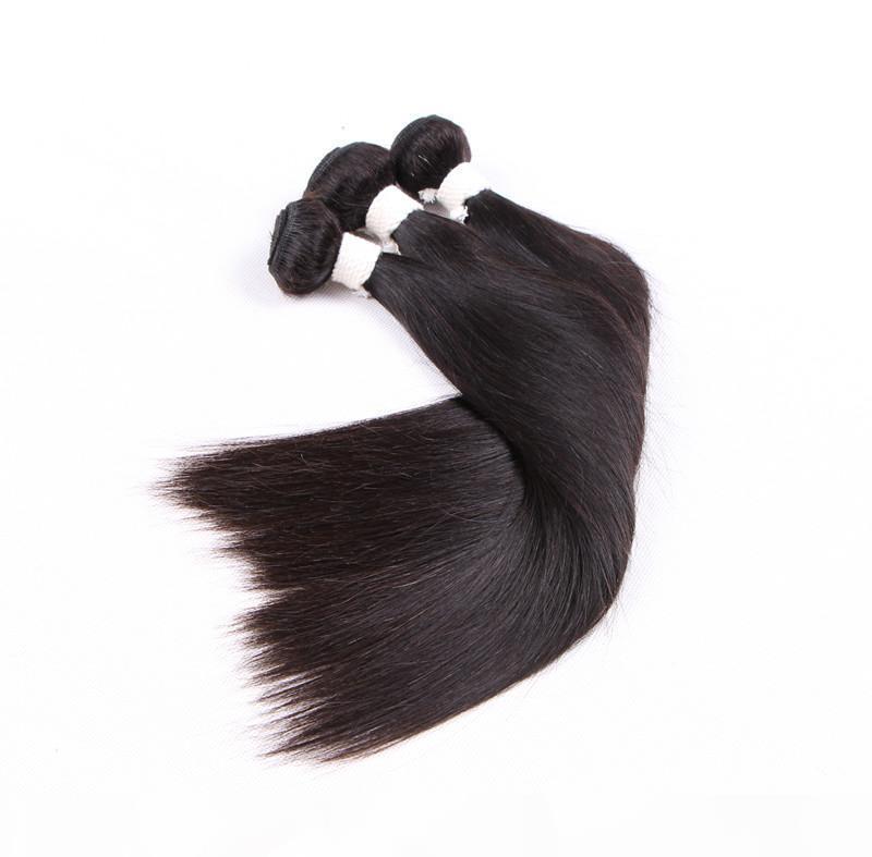 8A, 8A - ELIBESS волос 100% человеческих перуанских рубленских волос прямые пакет волос с 100 г частей 3 пакета много, DHL бесплатно