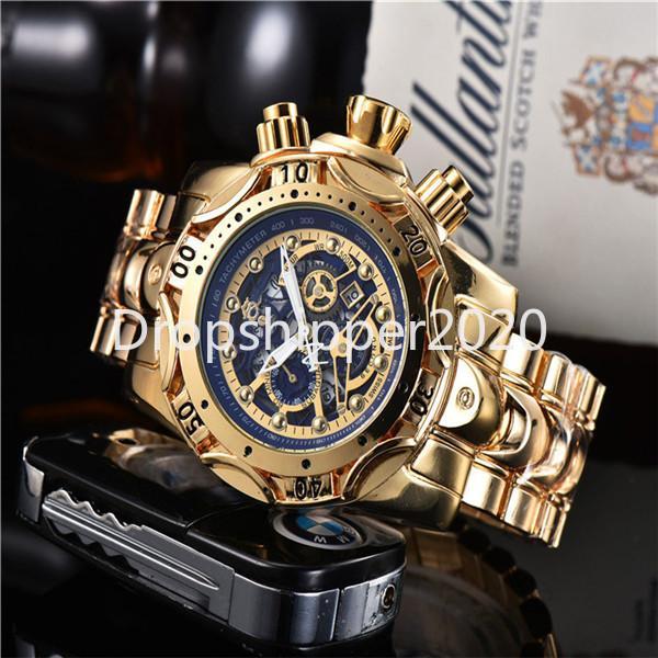 Reloj invicto 2020 Hot Selling Hot High Calidad Dial Automático Fecha de acero inoxidable Muñeca Relojes de cuarzo Reloj de Hombre