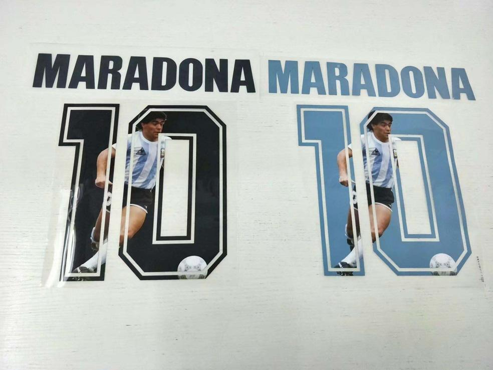 1986 Аргентина Марадона шрифт 87 88 88 Napoli Ретро Футбол Футбол Футбол Timber Timber Phicking Hot Parted Письма впечатлены Винтаж Футбольный Патч