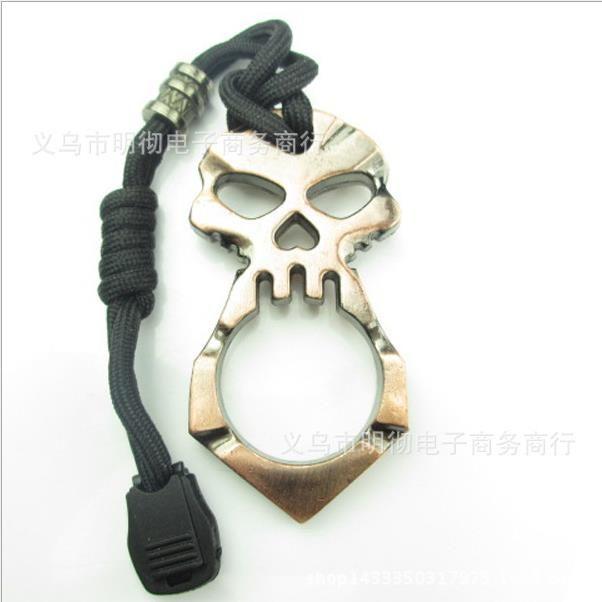 33 Crâne Single Finger Survival Keychain Bague Bague Fenêtre Distributeur Doigt Tiger Bouton Fist Bouton Femme Defense Products