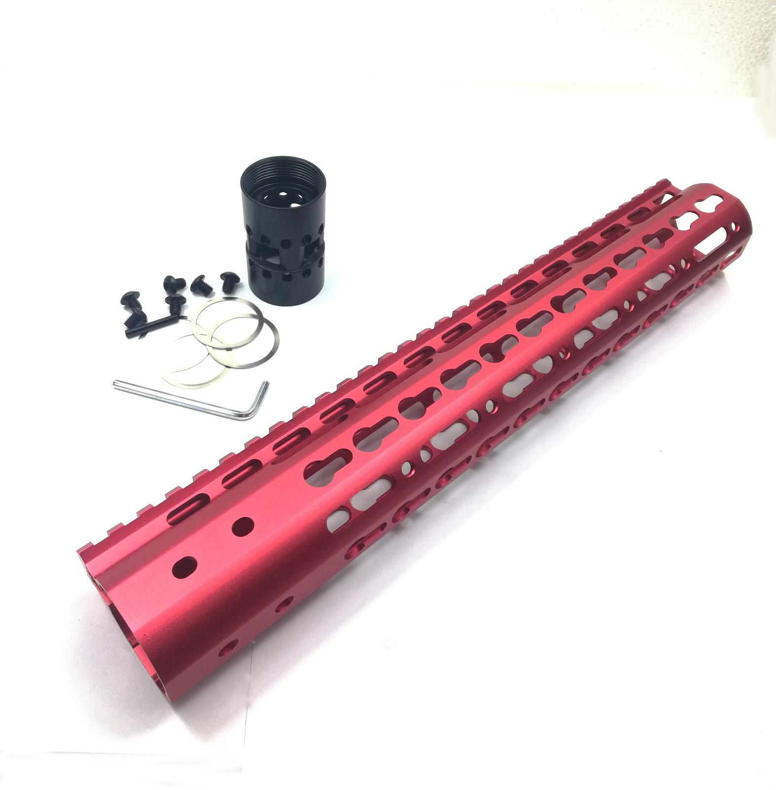 Guardia de 12 pulgadas Keymod con tuerca de barril de acero de riel superior monolítico