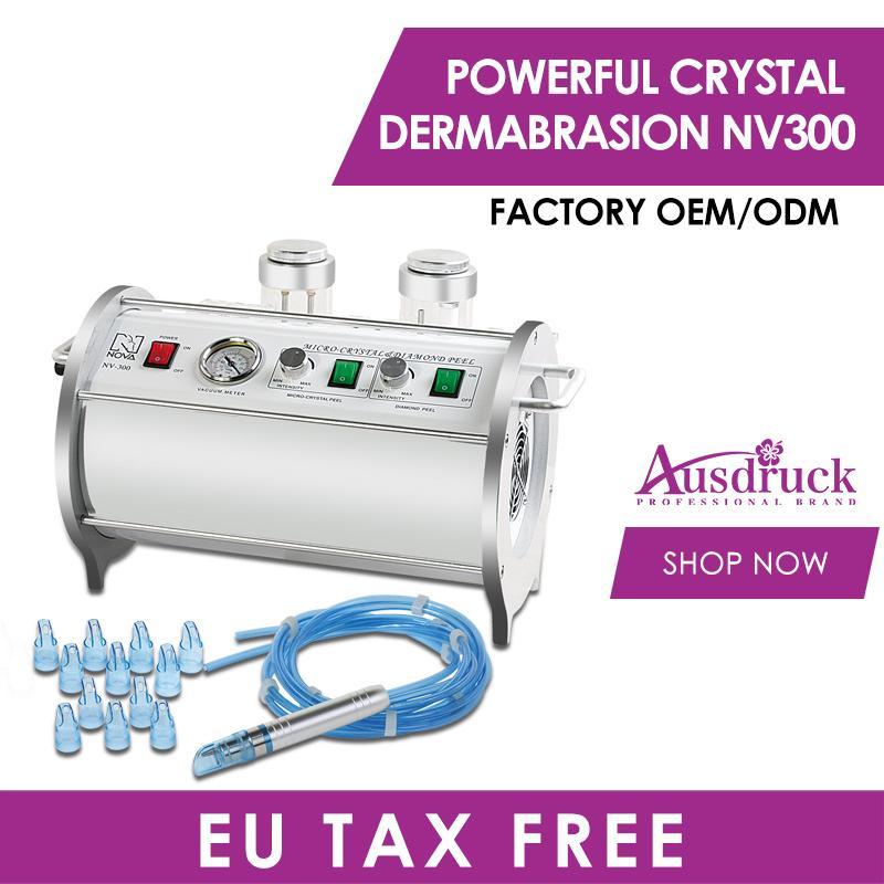 Eu tax free 2n1 CRYSTAL DIAMOND MICRODERMABRASION DERMABRASION diamond peeling skin rejuvenation wrinkle removal beauty machine NV300