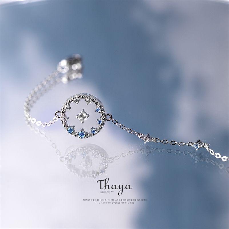 Thaya Sky Skyer Bractelet подлинный 1005 стерлингового серебра браслет браслет ручной работы хрусталь для женщин специальные украшения 201211