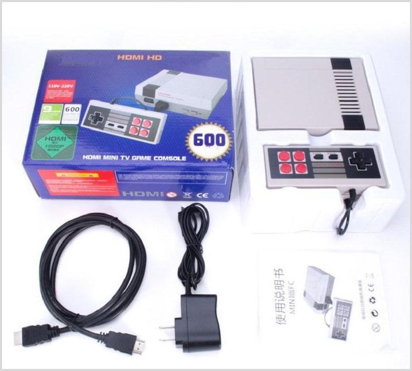 جديد HD لعبة وحدة التحكم الفيديو المحمولة مصغرة لعبة التلفزيون الكلاسيكية ل 600 NES ألعاب لوحات التحكم تحكم Joypad مع صندوق البيع بالتجزئة