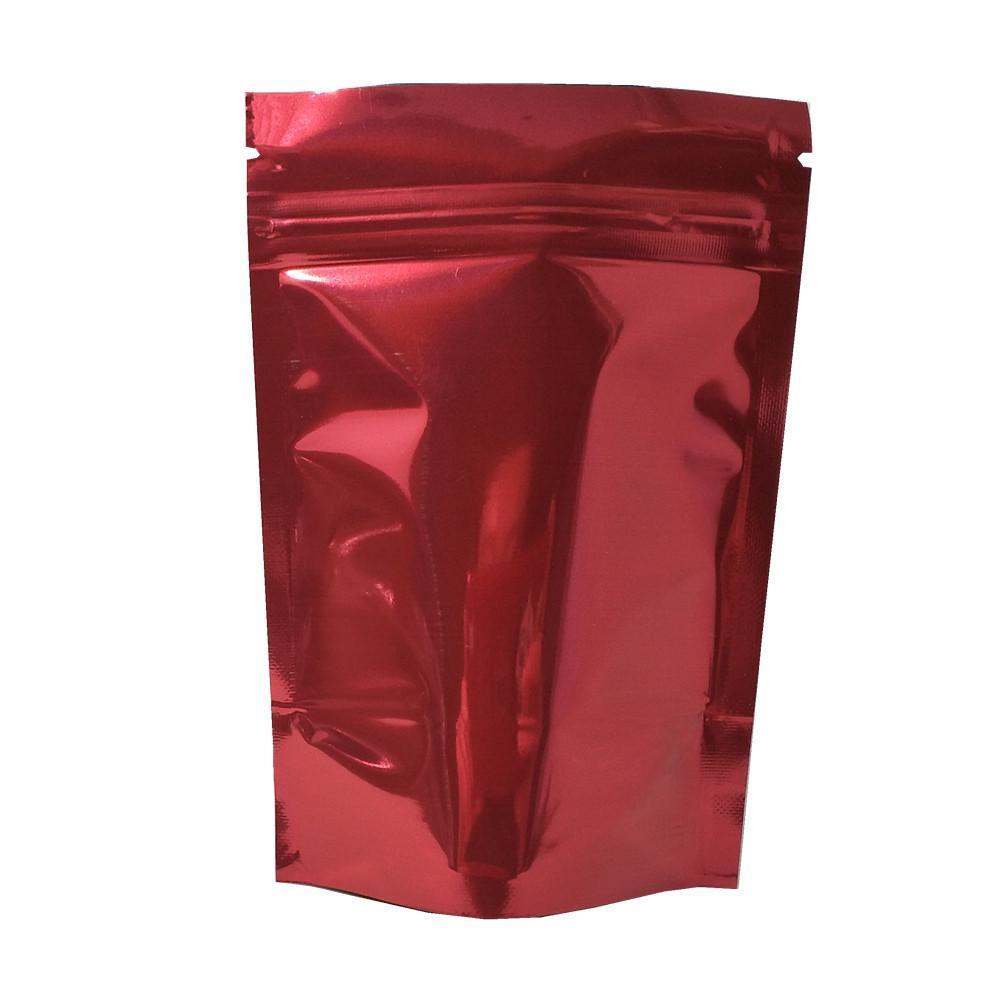 100 шт. Красочный вставка Алюминиевая фольга Zip Lock Упаковочная сумка Сухие Цветочные Чай Гайки Reazerable Mylar Фольга Упаковка на молнии Упаковка H BBYTIB