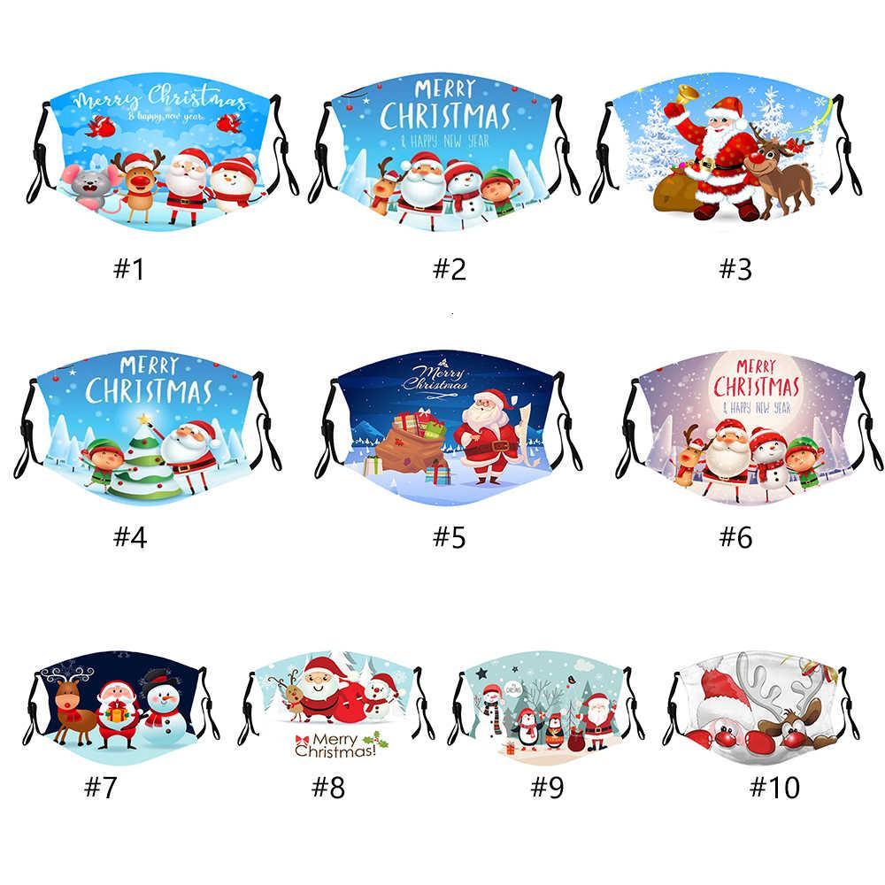 Weihnachtsmasken Kind Erwachsene Wiederverwendbare Kinder Hot 3D Print Santa Claus Party Spaß Schutz Mund Weihnachten Gesichtsmaske Mark F
