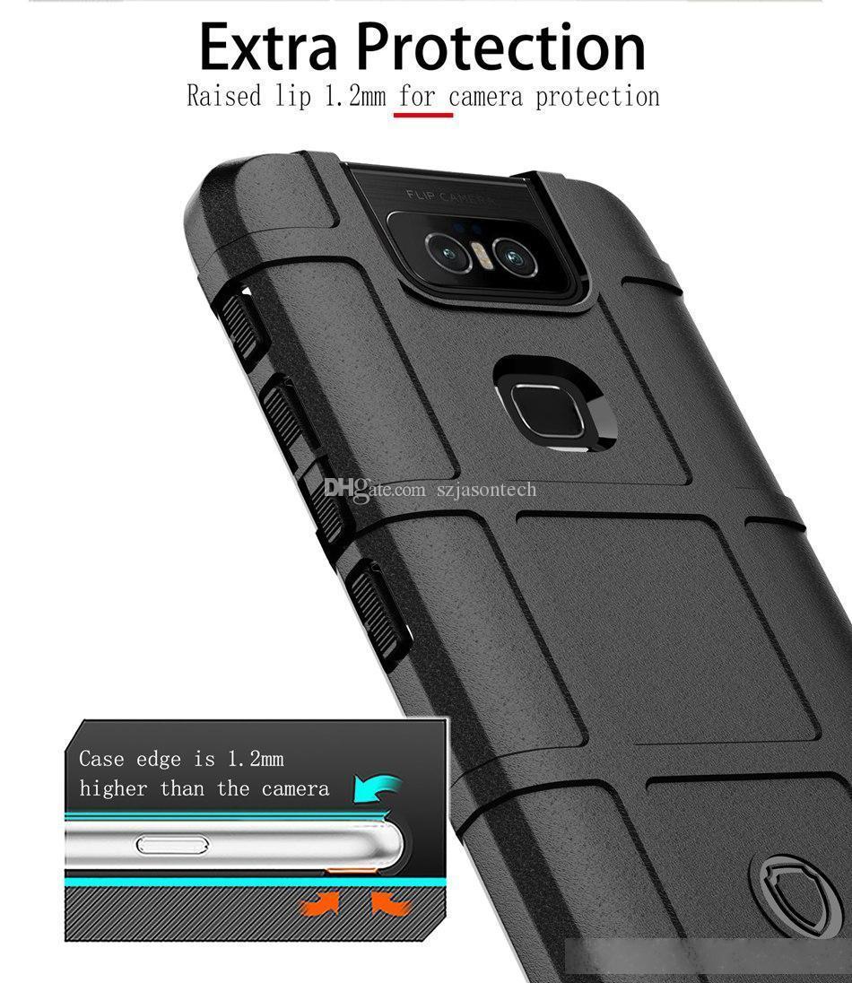 Para ASUS ZENFONE 6 ZS630KL CASE DE SILICONO ANTILIZA DE TELÉFONO TABLE PARA IPHONE SAMSUNG HUAWEI