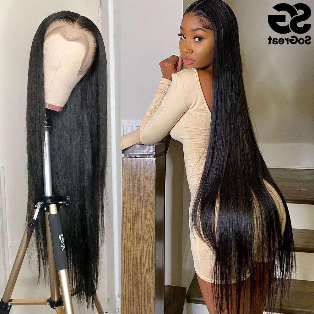 28 30 Pelucas humanas de 40 pulgadas para mujeres negras Plaquines brasileñal del cabello brasileño 13x4 Frontal Full HD Frente de encaje recto peluca