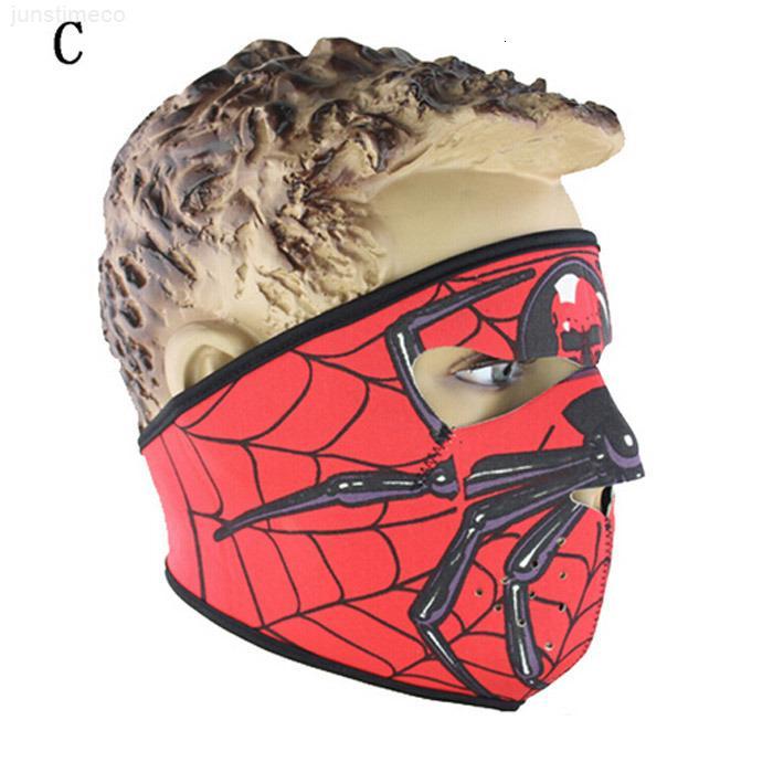 Yüz Neopren Kostüm Tam Cadılar Bayramı Kafatası Parti Yüz Maskesi Maskeleri Motosiklet Bisiklet Kayak Snowboard Spor Balaclava