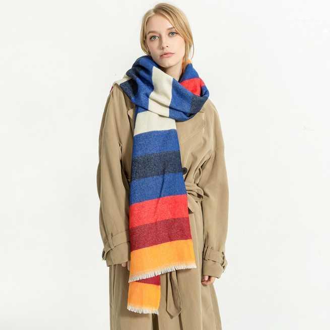 Шарфы 200 * 80 см кашемировый имитационный шарф шарф осень зима мужчин follard квадрат hijab дамы wrap huffler pareo женщина hijab1
