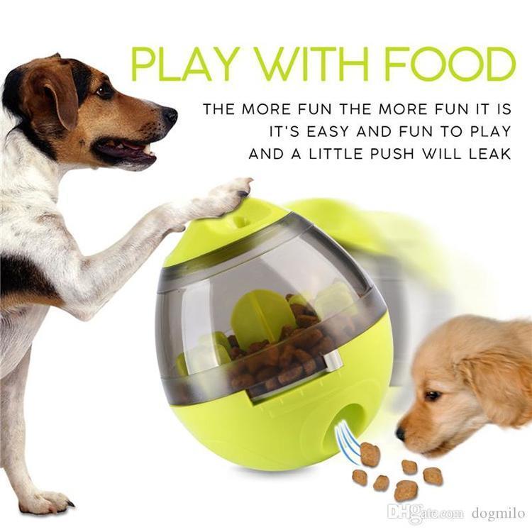 Perro Interactivo Juguetes IQ Comida Vacerr Ball Toy Smarter Food Dogs Trate Dispensador para Perros Gatos Animales Juegos Juegos Transporte Mascotas Suministro