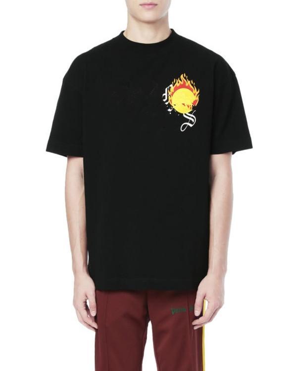 새로운 브랜드 뜨거운 판매 망 디자이너 티셔츠 패션 자수 인쇄 편지 티셔츠 남성 여성 여성 고품질 패션 의류