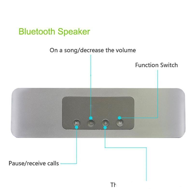 H11 Kablosuz Bluetooth Hoparlör Bluetooth Kart Ses Açık 3D Stereo Ses Taşınabilir Küçük Ses 5 V 16 W