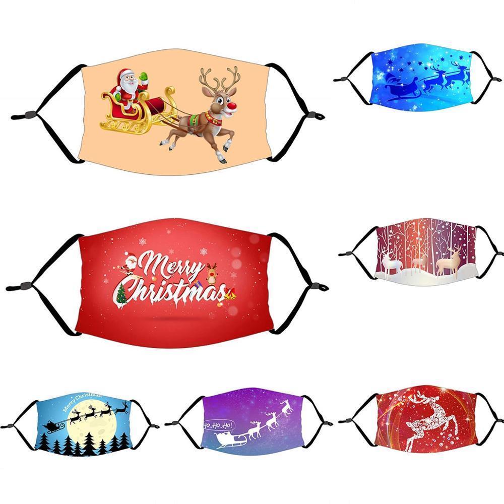 Máscara de festa de Qifu Feliz Natal decorações para casa 2020 Navidad Cristmas Ornamentos Xmas Presente Feliz Ano Novo 2021 Q1112