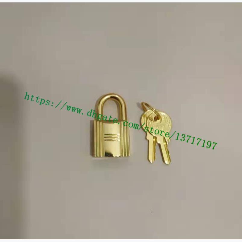 Candado de tono de oro pulido de alta calidad H 1 Lock 2 llave para berkin Keally Bag Aleación de metal de acero inoxidable envío gratis 079