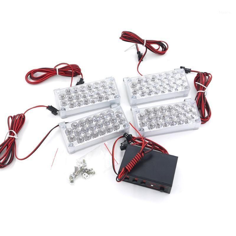 긴급 조명 Eonstime 4x22 LED 스트로브 깜박임 경고 가벼운 자동차 트럭 12V 레드 블루 앰버 화이트 그린 88LED1