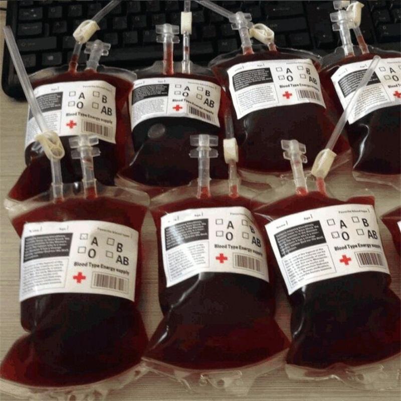 Halloween Vampire Tema Bebida Bolsa Dupla tubo Suco de frutas Leite Beer Beverage Bag 300ml Originalidade Bebidas Bancas 0 99HC F2