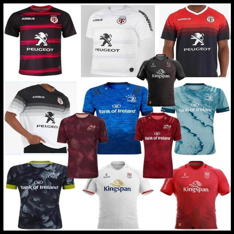 2020 2021 Toulouse Munster City Rugby Jersey 20 21 Leinster Rugby قميص Ulster Training Jerseys Size S-5XL