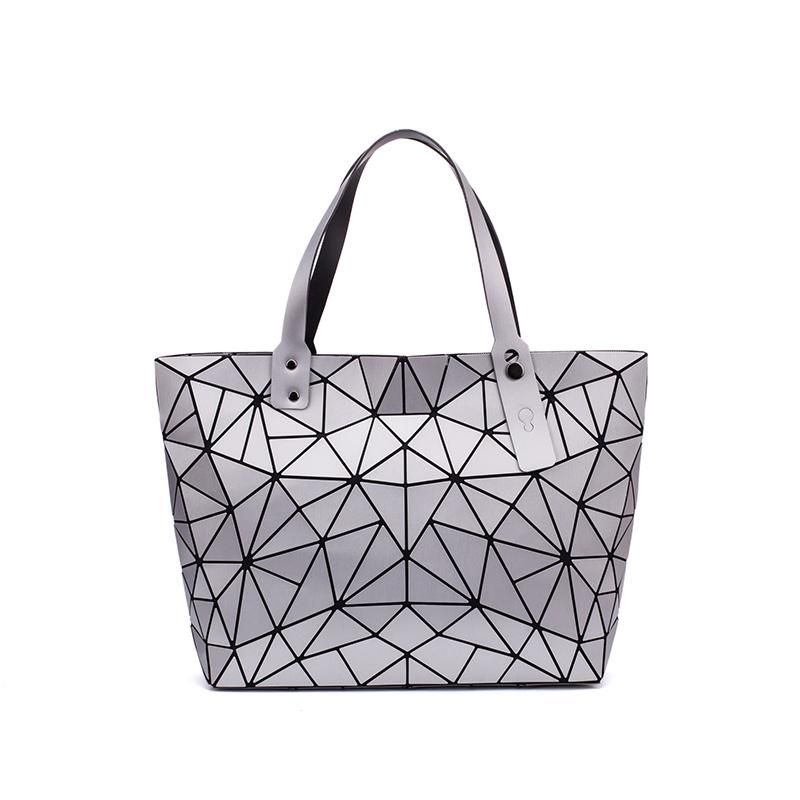 LoveVook Frauen Umhängetaschen Große Kapazität Faltbare Totes Weibliche Luxus Handtaschen Designer Mode Geometrische Taschen Weiche PU