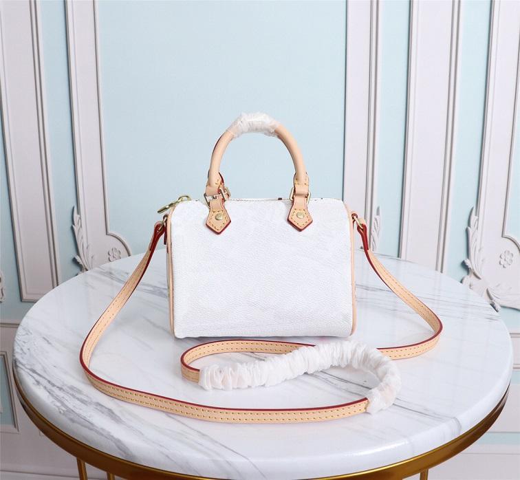 Пыльница мода мини высокий EBRML с кошельком женщина сумки сумки сумка роскошь цеменные дизайнеры 2020 Speedy Nano M61252Shourder Crossbody Bag Quali XJWR