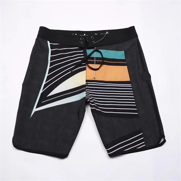 Men's Brand Spandex Boardshorts Striped Quick Dry Shorts Silver Board Shorts Swimwear 2020 Beach Phantom Men Bermuda Waterproof Y1209