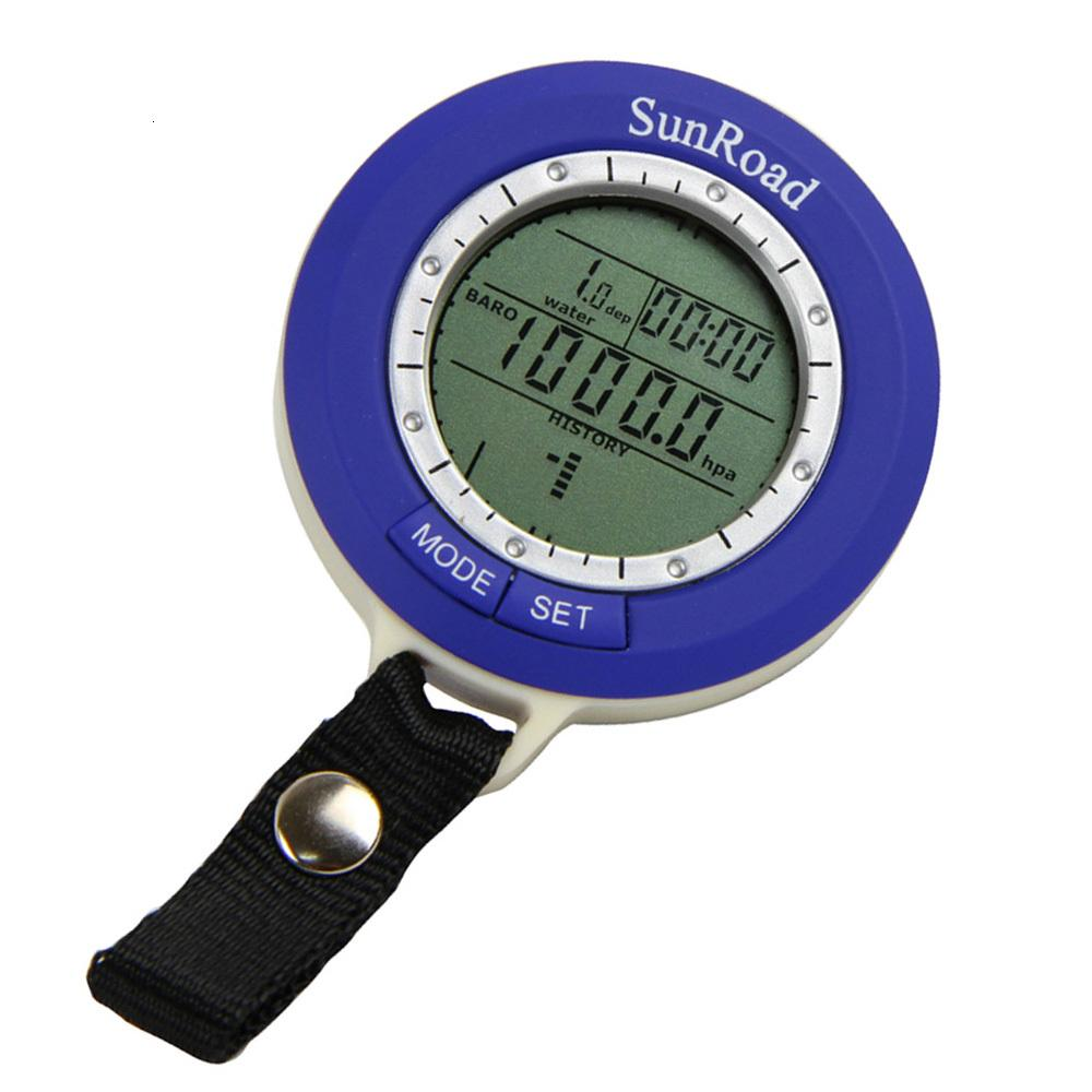 Professional 5 in 1 Mini LCD Backlit IPX4 Digital Fishing Barometer Smart Tracking Altimeter Time Temperature Weather Display.