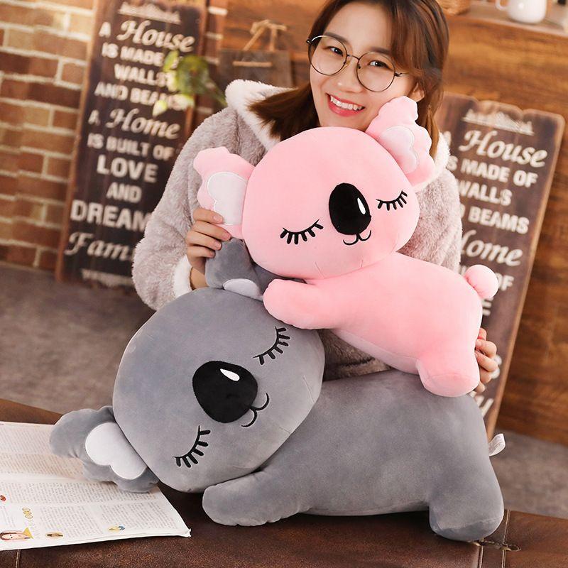 Nuova simulazione Koala Peluche Giocattolo Soft Cartoon Animal Koala Kawaii Peluche Bambola Doll Divano Pillow Pingo Puscolo Amici Regalo di compleanno Y0106