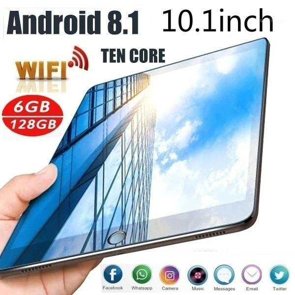 Tablet PC WiFi 10.1 Inch Ten Core 4G Android 8.0 Arge Network 1280*800IPS Dual Screen SIM1