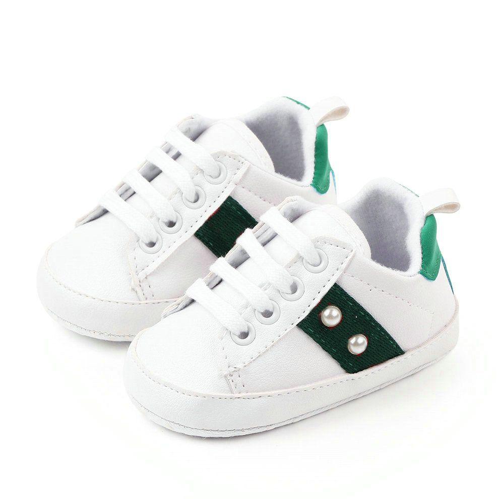 유아 아기 스포츠 신발 진주 여자 캐주얼 첫 번째 워커 신발 소년 소프트 단독 신생아 신발 무료 배송