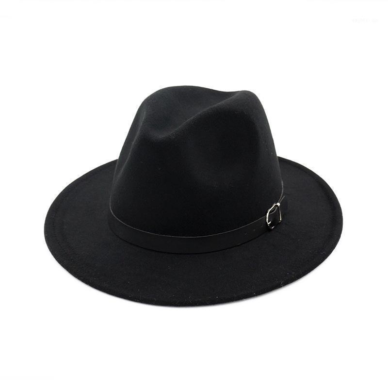 2019 Autunno e Inverno Colore solido Cappello a fesso Cappello da viaggio Fedoras Jazz Cappello Panama Cappelli per Donne e Girl 501