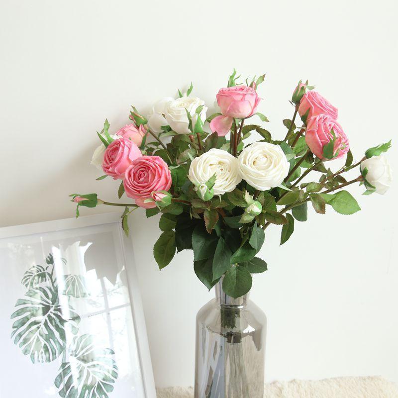 Seidenblume künstliche Blumenkleber feuchtes Gefühl Diamant Rose Hochzeit Valentinstag Geschenk Home Decoration1