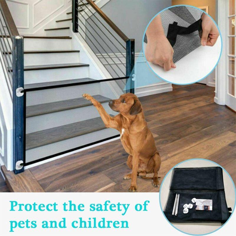 Home Pet Dog Заборы Заборы ПЭТ Изолированные Сетевые Лестницы Складной Складной Сетка Playpen Для Собака Cat Baby Безопасность Забор Собака Клетка ПЭТ Аксессуары LJ201201