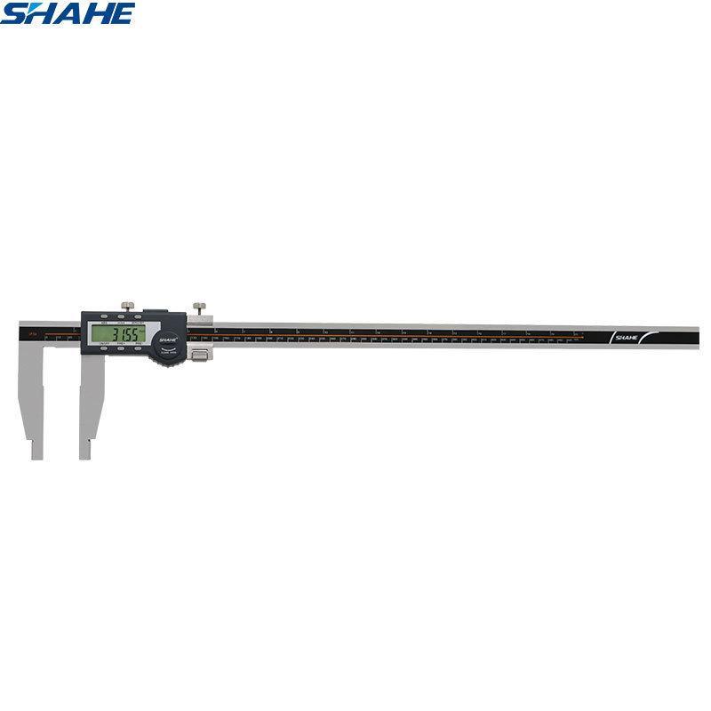 Shahe جديد Vernier الفرجار 600 ملم paquimetro الرقمية الفرجار ميكرومتر الفولاذ المقاوم للصدأ الإلكترونية الرقمية الفرجار 600 ملليمتر T200602