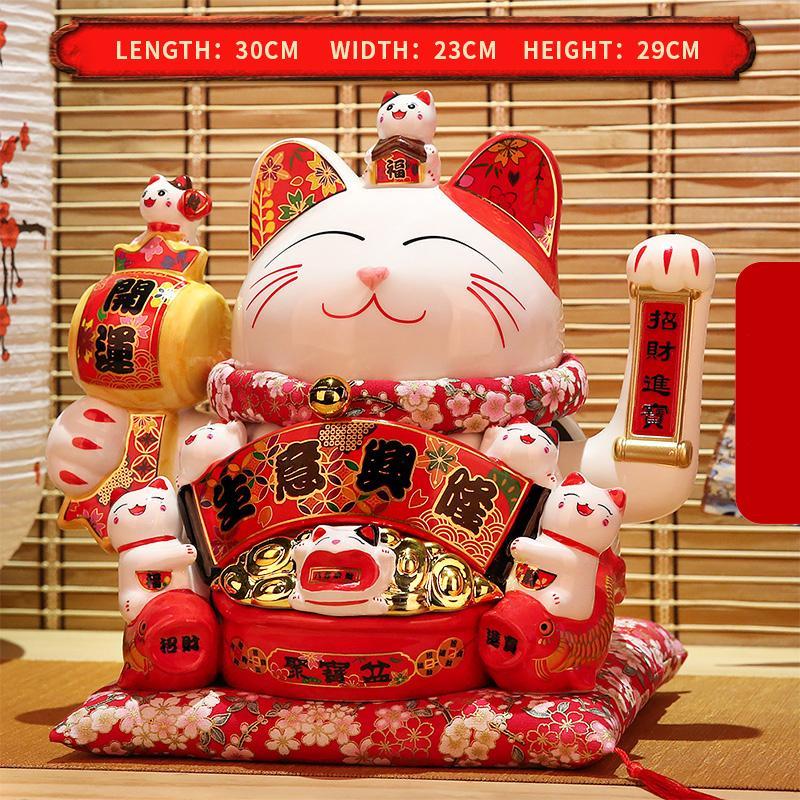 Può stringere le mani man manovre neko decorazione domestica regali crema fortuna gatto soldi gatto fortunato